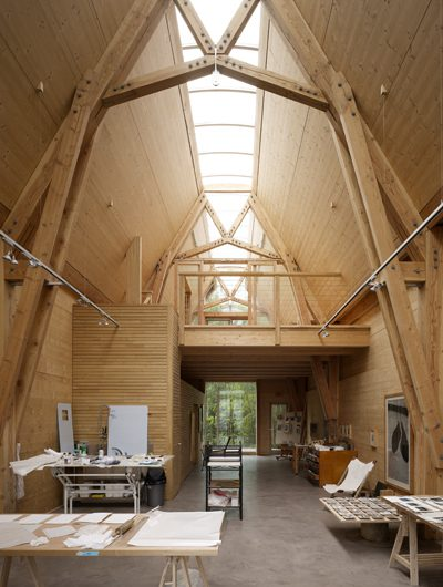 Working methods the architecture ensemble at flimwell for Cruck frame house plans