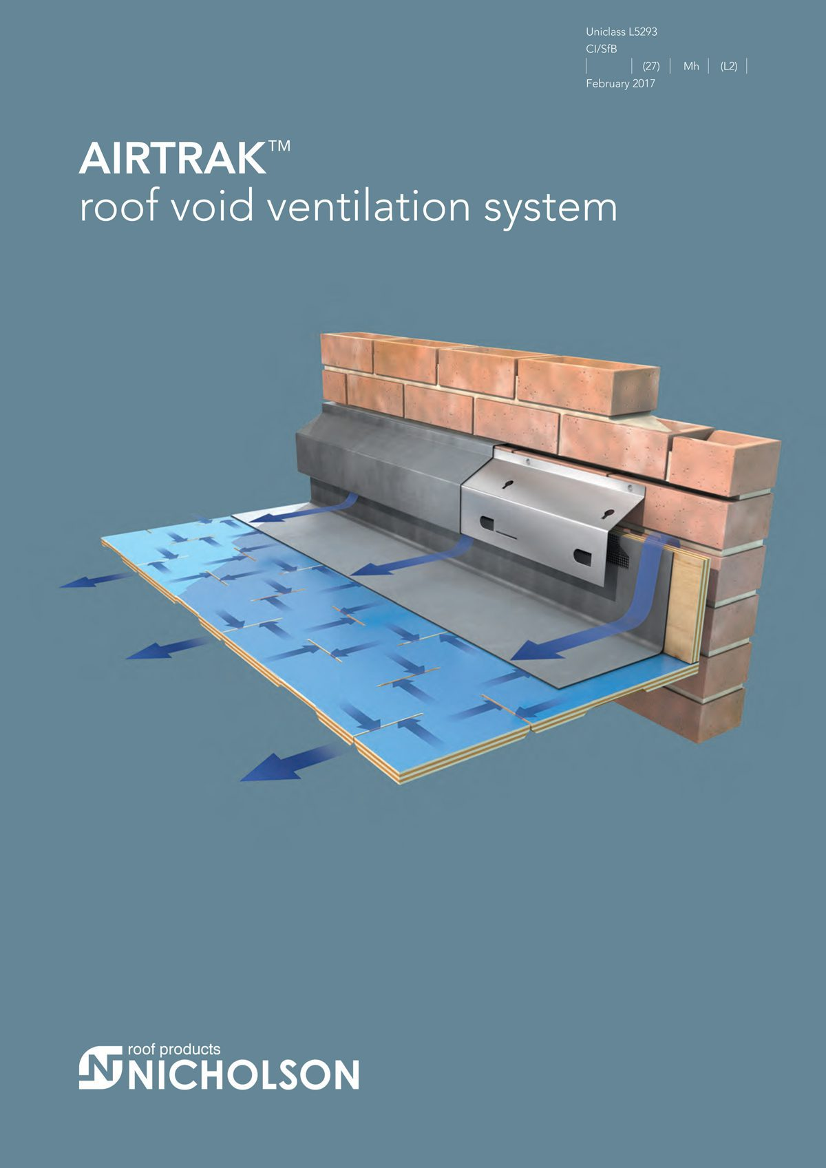 Flat roof penetration for wire