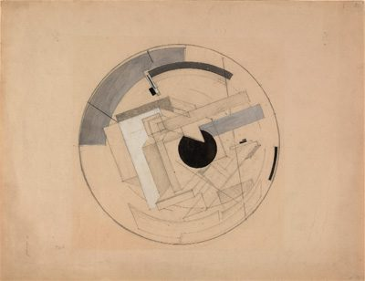 El Lissitsky's Sketch for Proun 6B (1919-21), from the Costakis Collection at the State Museum of Contemporary Art, Thessaloniki.