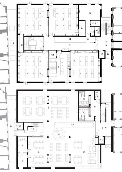 First floor and ground floor plans