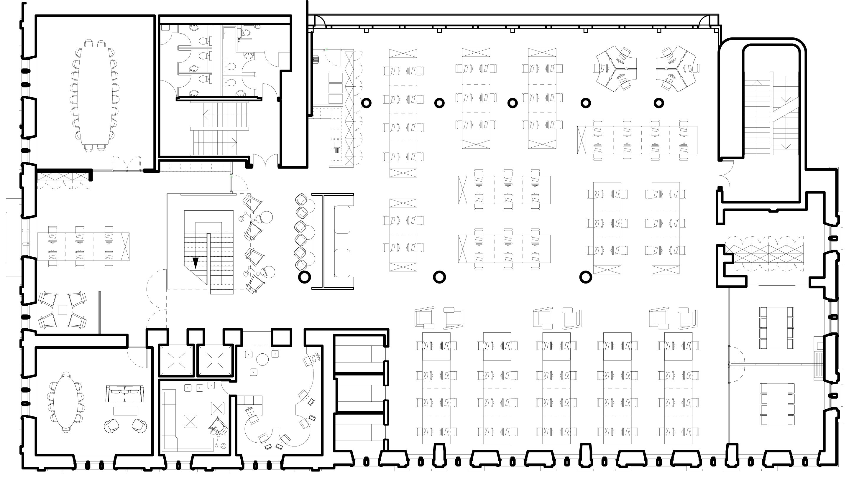 Spacelab s virgin money corporate headquarters in for Corporate office plan